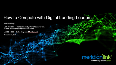 20191107 How to Compete with Figitla Lending Leaders